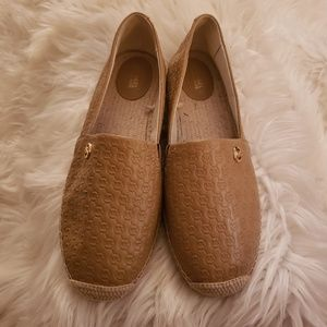 Michael Kors espadrille leather flats